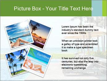 Sunbed Near Pool PowerPoint Template - Slide 23