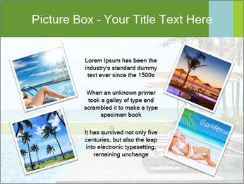 Sunbed Near Pool PowerPoint Template - Slide 24