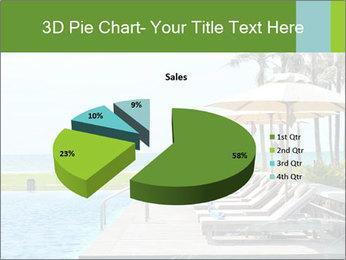 Sunbed Near Pool PowerPoint Template - Slide 35