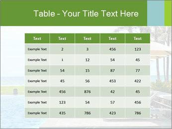 Sunbed Near Pool PowerPoint Template - Slide 55