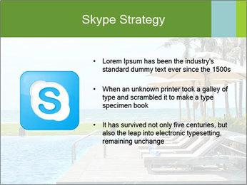 Sunbed Near Pool PowerPoint Template - Slide 8