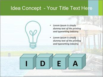 Sunbed Near Pool PowerPoint Template - Slide 80