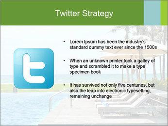 Sunbed Near Pool PowerPoint Template - Slide 9