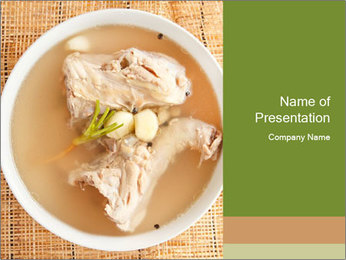 Meat Broth PowerPoint Template - Slide 1