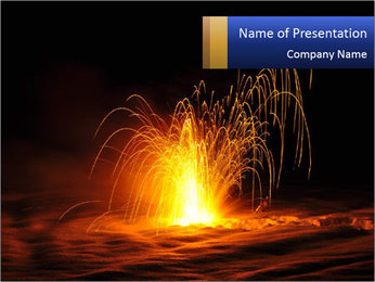 Fire Explosion PowerPoint Template - Slide 1
