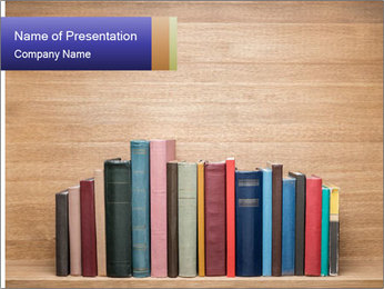 Set Of Books PowerPoint Template - Slide 1