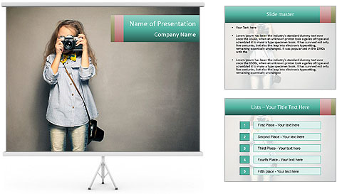 Fashion For Kids PowerPoint Template