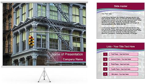 Urban House PowerPoint Template