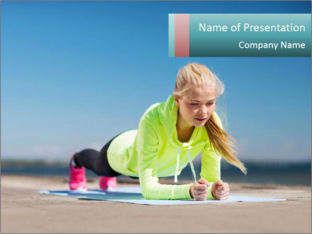 Woman Doing Plank PowerPoint Templates