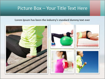 Woman Doing Plank PowerPoint Templates - Slide 19