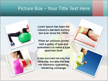 Woman Doing Plank PowerPoint Templates - Slide 24