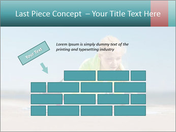 Woman Doing Plank PowerPoint Templates - Slide 46