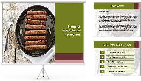 Breakfast Sausage PowerPoint Template