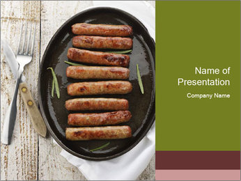 Breakfast Sausage PowerPoint Template - Slide 1