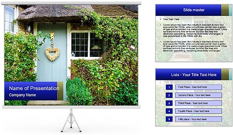 Cute Countryside House PowerPoint Template