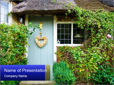 Cute Countryside House PowerPoint Templates