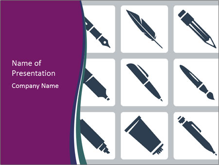 Collection Of Pen PowerPoint Template
