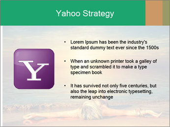 Woman Taking Sun Bath PowerPoint Templates - Slide 11