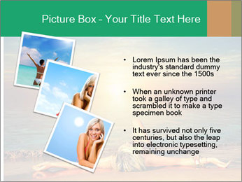 Woman Taking Sun Bath PowerPoint Templates - Slide 17