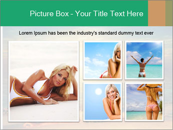 Woman Taking Sun Bath PowerPoint Template - Slide 19