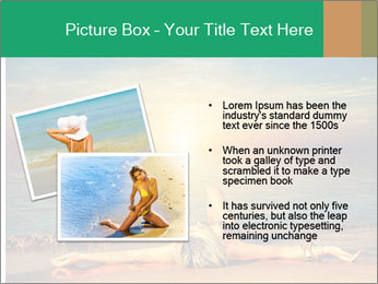 Woman Taking Sun Bath PowerPoint Template - Slide 20