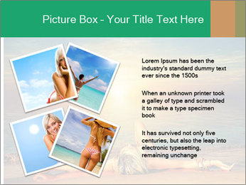 Woman Taking Sun Bath PowerPoint Template - Slide 23