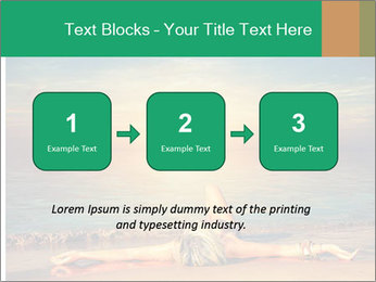 Woman Taking Sun Bath PowerPoint Templates - Slide 71