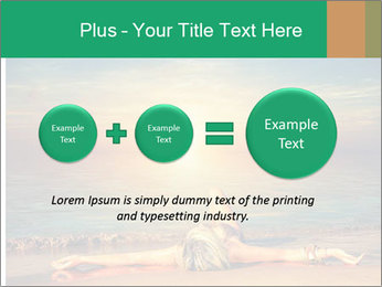 Woman Taking Sun Bath PowerPoint Templates - Slide 75