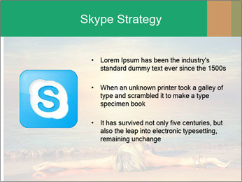 Woman Taking Sun Bath PowerPoint Template - Slide 8