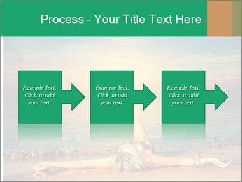 Woman Taking Sun Bath PowerPoint Template - Slide 88