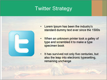 Woman Taking Sun Bath PowerPoint Templates - Slide 9
