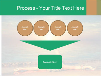 Woman Taking Sun Bath PowerPoint Templates - Slide 93