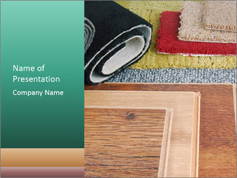 Room Carpeting PowerPoint Template - Slide 1