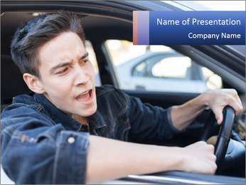Shouting Driver PowerPoint Template