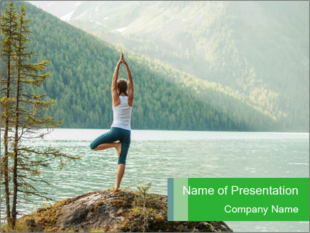 Yoga Ourside PowerPoint Templates