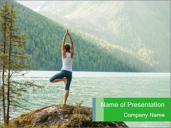 Yoga Ourside PowerPoint Template - Slide 1