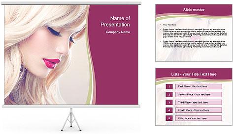 Blonde Beauty PowerPoint Template