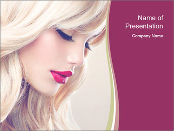 Blonde Beauty PowerPoint Template - Slide 1