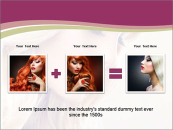Blonde Beauty PowerPoint Template - Slide 22