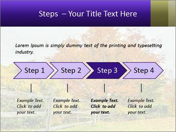 Orange Tree Leaves PowerPoint Template - Slide 4
