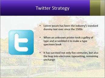 Orange Tree Leaves PowerPoint Template - Slide 9