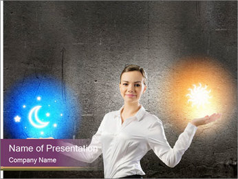 Woman Astrologer PowerPoint Template