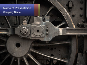 Old Locomotive PowerPoint Template