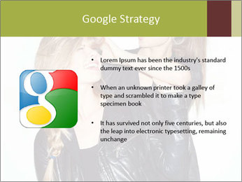Models Wearing Black Leather Clothes PowerPoint Templates - Slide 10