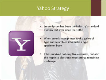 Models Wearing Black Leather Clothes PowerPoint Templates - Slide 11