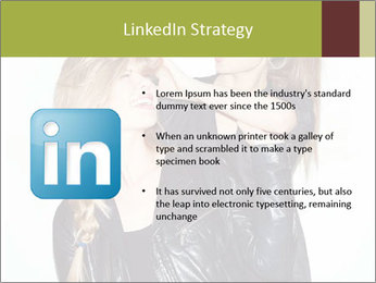 Models Wearing Black Leather Clothes PowerPoint Templates - Slide 12