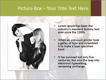 Models Wearing Black Leather Clothes PowerPoint Templates - Slide 13
