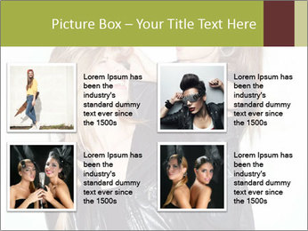 Models Wearing Black Leather Clothes PowerPoint Templates - Slide 14