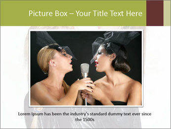 Models Wearing Black Leather Clothes PowerPoint Templates - Slide 15