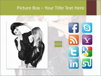 Models Wearing Black Leather Clothes PowerPoint Templates - Slide 21